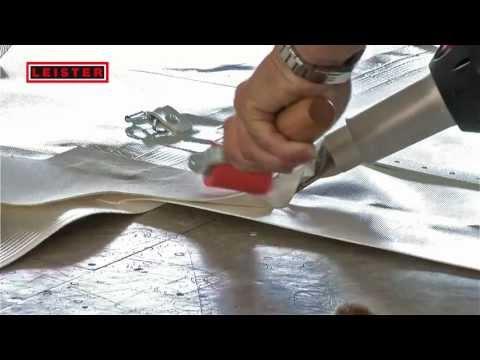 manual roof welding with herz rion digital hot air tool doovi. Black Bedroom Furniture Sets. Home Design Ideas