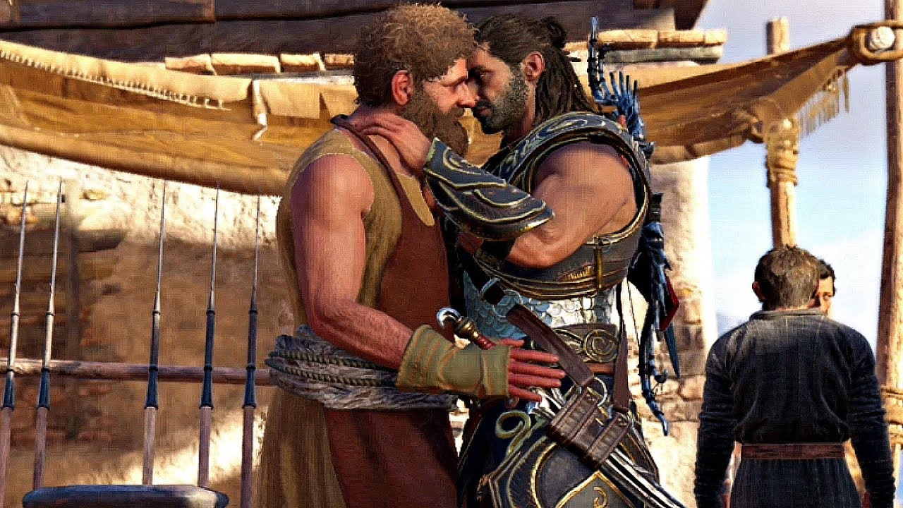 Assassin S Creed Odyssey Gay Blacksmith Romance Scene Alexios