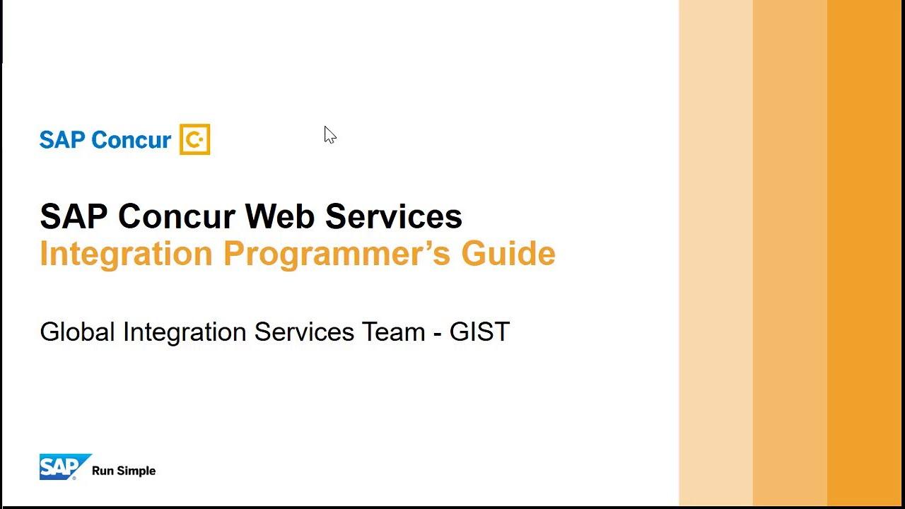 SAP Concur Web Services Integration Guide