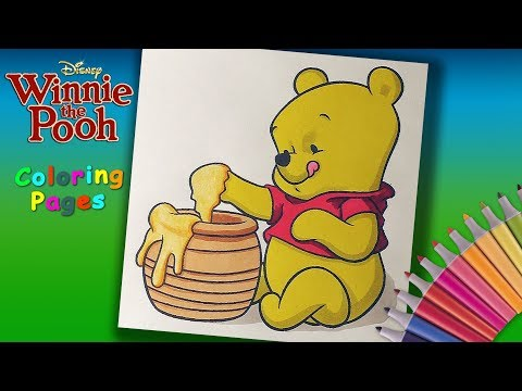 Winnie the Pooh Coloring for kids. Baby Winnie Pooh Coloring Pages