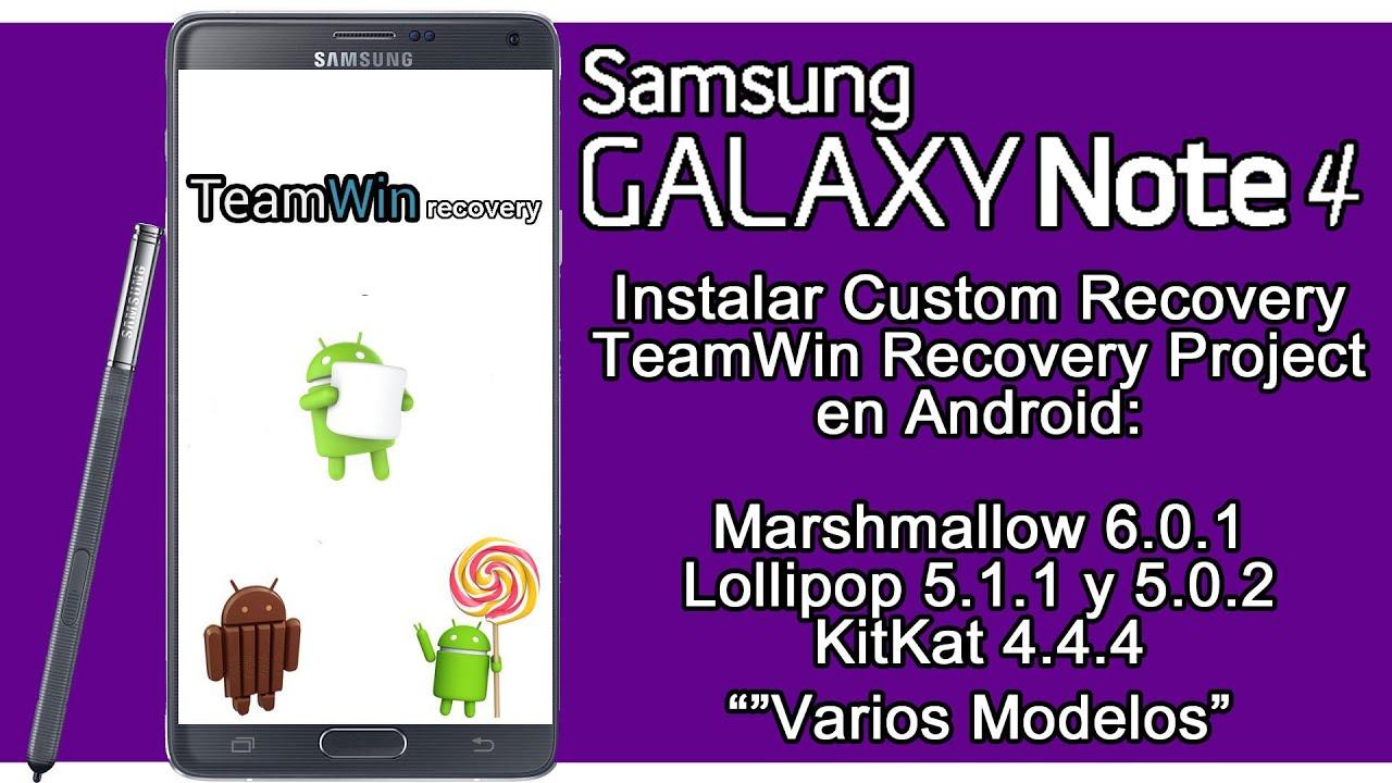 Galaxy Note 4 - Instalar Custom Recovery TWRP