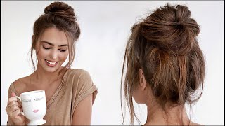 Perfect MESSY BUN Tutorial! *60 second hair*  jackie wyers