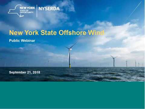 New York State Offshore Wind Public Webinar - September 21, 2018