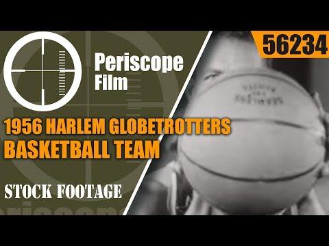 "1956 HARLEM GLOBETROTTERS BASKETBALL TEAM  ""FABULOUS HARLEM GLOBETROTTERS"" 56234"