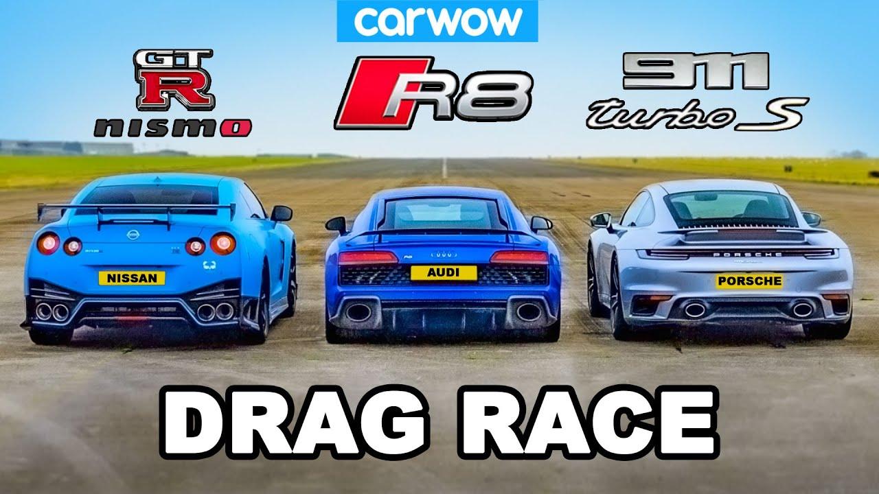 Download GT-R NISMO v 911 Turbo S v R8 - DRAG RACE