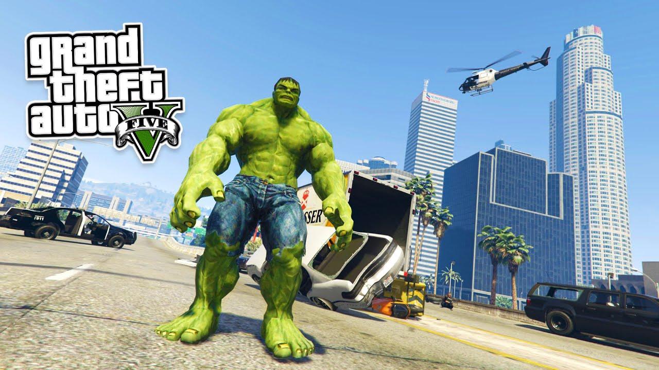 Hulk Vs Hulk Gta  Hulk Mod Gameplay Gta  Mods Gameplay Youtube