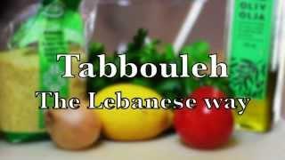 Tabbouleh Recipe - The Lebanese Way