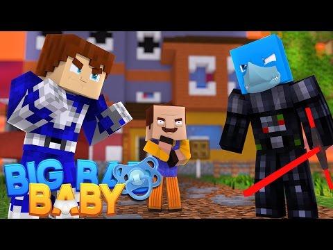 Minecraft - POWER RANGERS (SCUBA STEVE) VS STAR WARS (SHARKY)