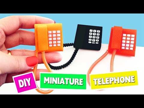 How to Make Miniature Phone - DIY Tutorial - simplekidscrafts