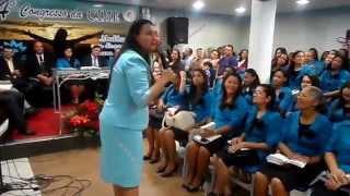 Missionária Angela de Jesus:Pregação- Abigail apazigua Davi 3°Dia Cibe 2014 Parte 1
