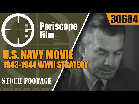 """U.S. NAVY MOVIE 1943-1944 WWII STRATEGY IN THE PACIFIC  """"TARGET: JAPAN""""  30684"""
