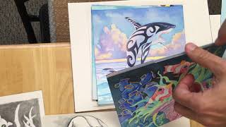 Unboxing of new art for Oceans!