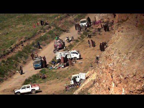 Syrie: les images du dernier bout de territoire tenu par le groupe EI à Baghouz