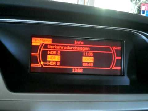 Mmi Basic Plus Monochrome Traffic Function Audi A4 2009 Youtube