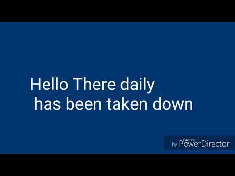 Hello There Daily Has Been Taken Down