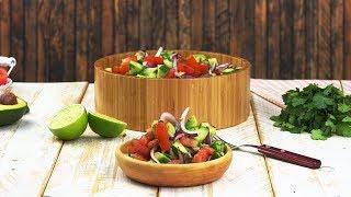 Салат с авокадо за 5 минут