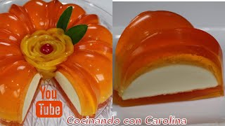 Gelatina Flotatina de Durazno con Queso Crema - Acomerpe.com