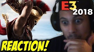 THIS IS SPARTA! Assassin's Creed Odyssey  - Official Gameplay Trailer | Ubisoft E3 2018 REACTION!!!