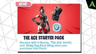 THE NEW * THE ACE * SKIN Starter Pack in Fortnite..