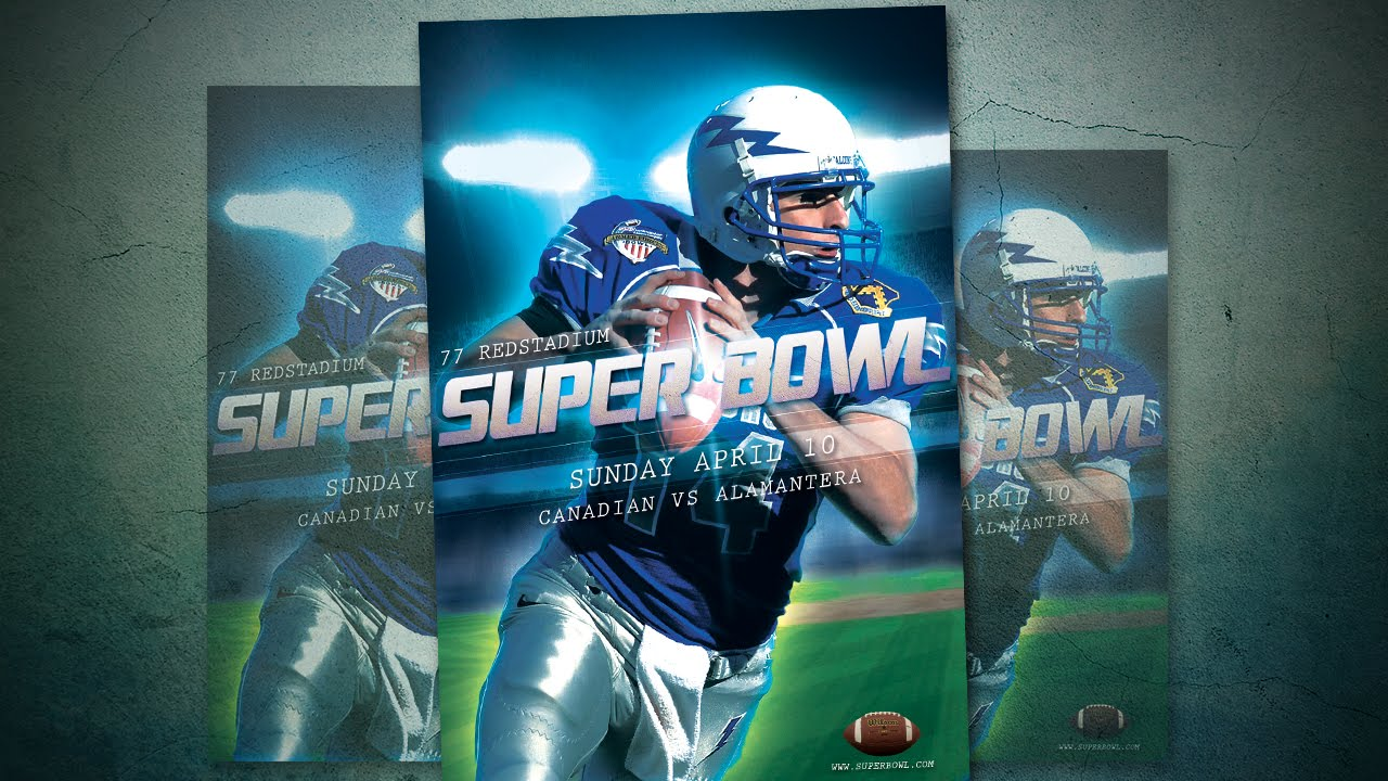 How To Design Big Match Football Flyer In Photoshop