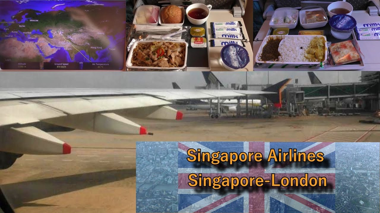 Singapore Airlines to London Heathrow Full Flight: SQ308 Airbus A380