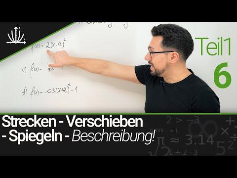 Verschieben Und Strecken Von Graphen - Beschreibung   Funktionen #6 TEIL1   Einfach Mathe