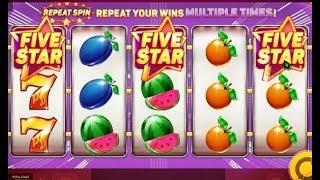 Machine à sous à 5 rouleaux FIVE STARS avec des Re-Spin gratuit 🎰 🎰 🎰 🎰 🎰