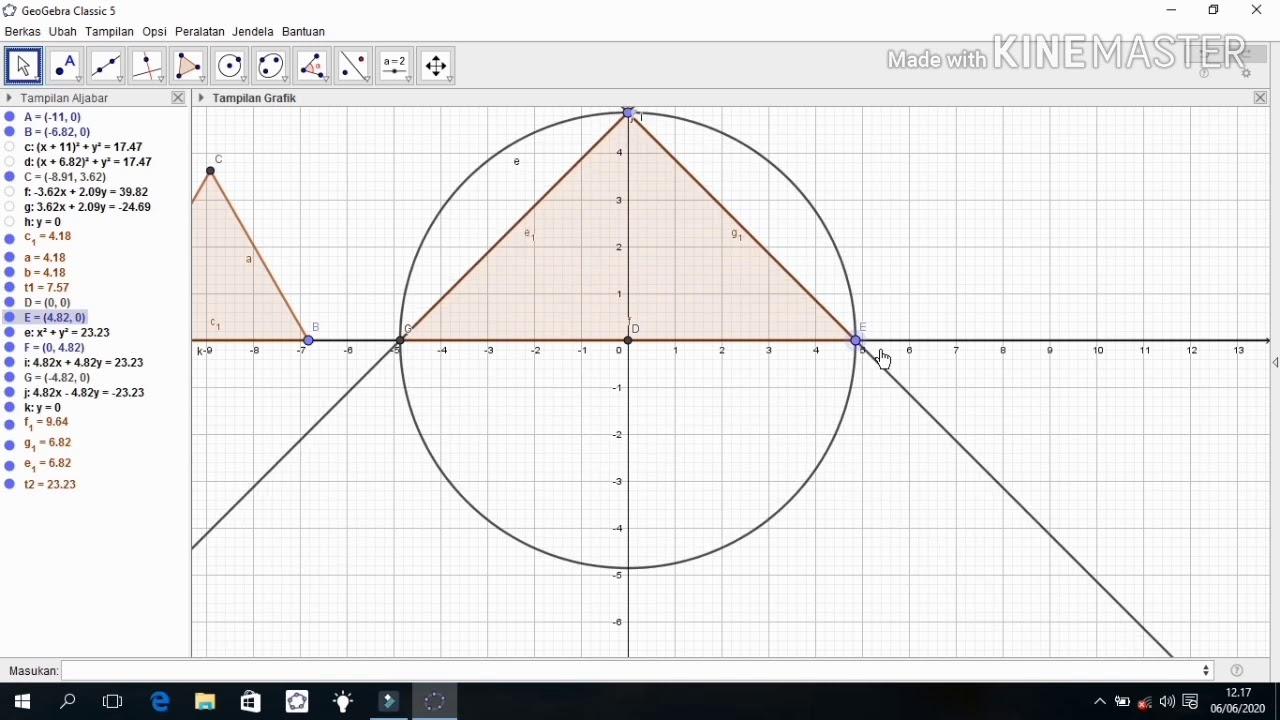 Tutorial Geogebra: 10. Segitiga (Jenis-jenis segitiga berdasarkan panjang sisi)