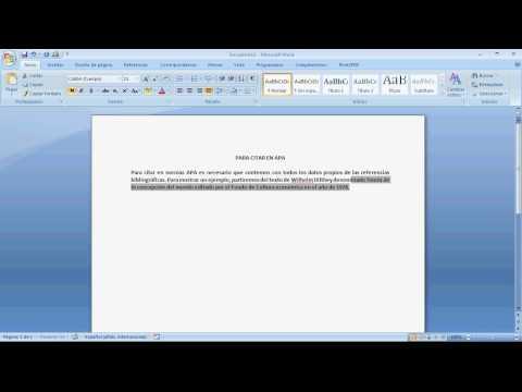 Citas Textuales y Parafraseado con normas estilo APA de YouTube · Duración:  7 minutos 50 segundos