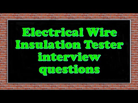 electrical wire insulation tester interview questions youtube rh youtube com electrical wiring interview questions and answers electrical house wiring interview questions