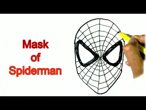 how-to-draw-spiderman's-mask--in-easy-steps-for-children.-beginners