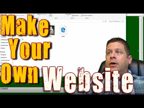 NEW: How To Create A Simple HTML Website From Scratch - With FREE Software!!!