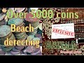 Beach detecting. Over 5000 coins found at Ocean Beach NSW Australia 🇦🇺 with Tim Davies Money Pot