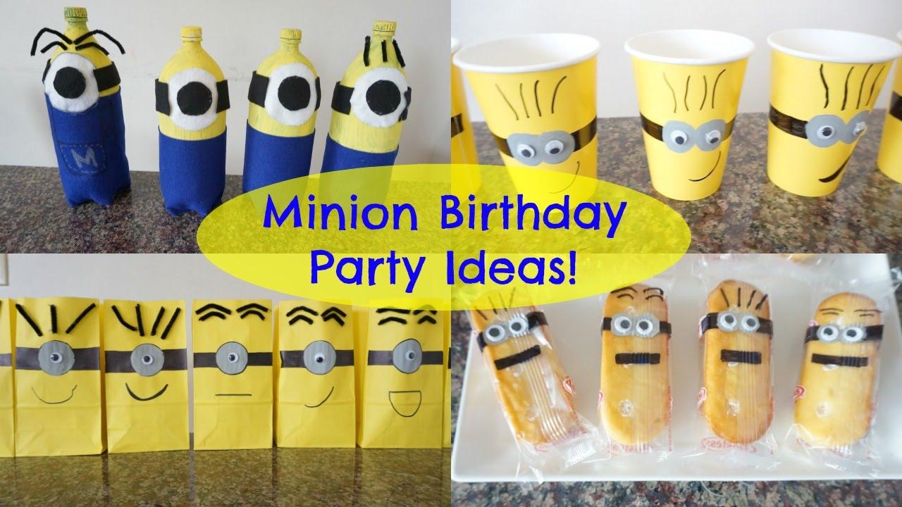 Minion Birthday Party Ideas Youtube