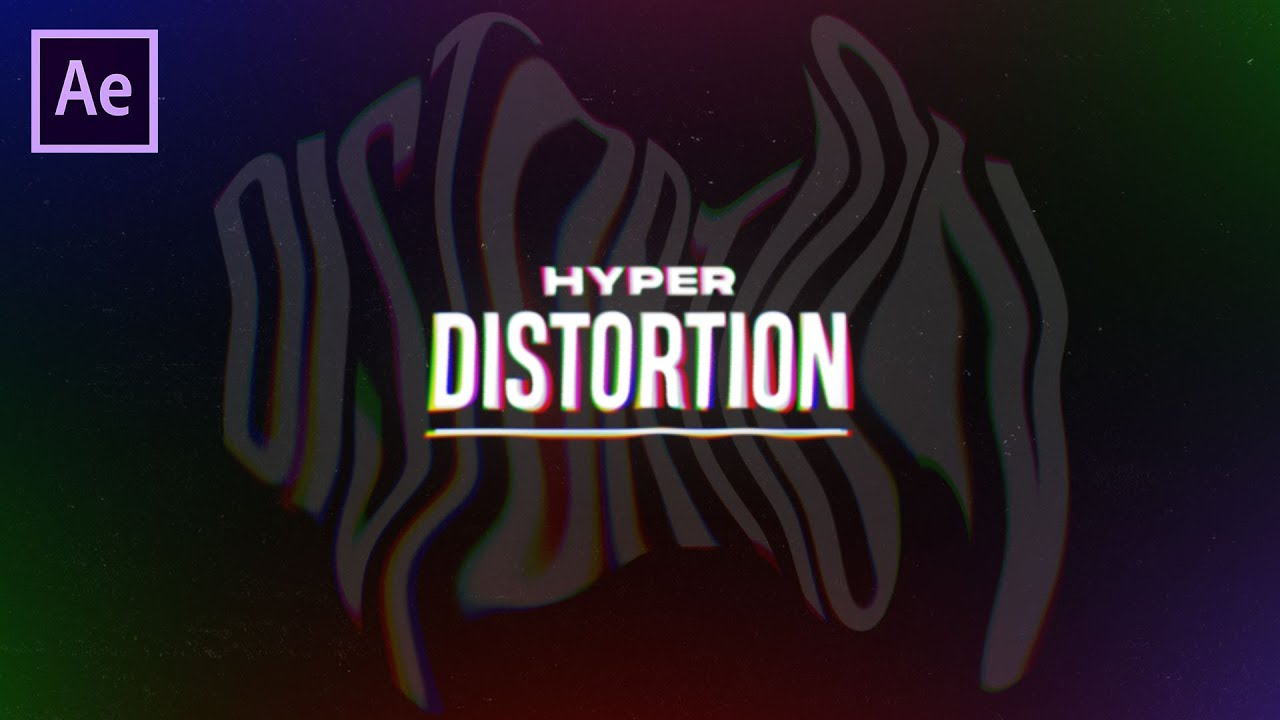 Epic Distorted Text Animation in After Effects