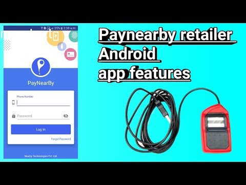 Paynearby retailer Android application full feature Aadhar deposit withdrawal balance enquiry