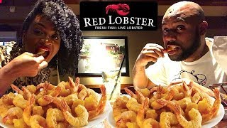 RED LOBSTER ENDLESS SHRIMP! MUKBANG EATING SHOW!