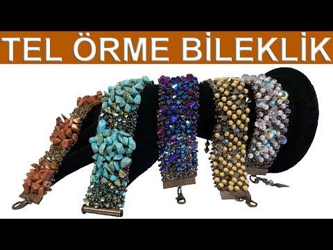 Tel örme Bileklik (How To Make Wire Bracelet Knitting)