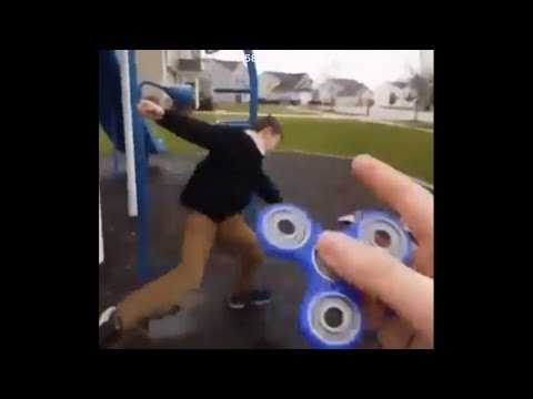 Fidget spinner fail cringe compilation (Try Not To Laugh Challenge)