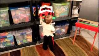Toy Storage Ideas | Basement Storage Before and After