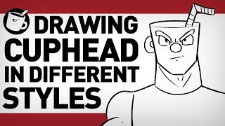 Artists Draw Cuphead in Different Cartoon Styles