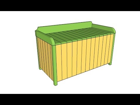 outdoor storage box plans youtube. Black Bedroom Furniture Sets. Home Design Ideas