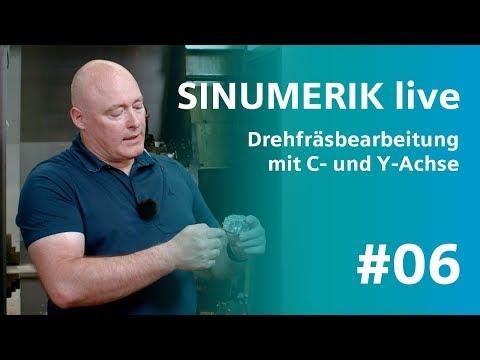 SINUMERIK live Drehfräsbearbeitung mit C- und Y-Achse