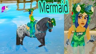 Mermaid Dress Up ! Hair + Fashion Clothing Makeover Star Stable Online Video