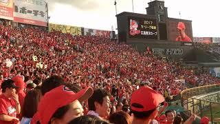 優勝監督インタビュー 2017/9/18 vs阪神 甲子園球場レフトスタンドから thumbnail