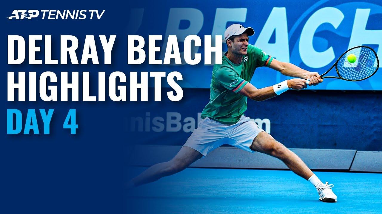 Hurkacz, Tiafoe Progress; Quiroz Makes Ecuadorian History   Delray Beach Open 2021 Highlights Day 4