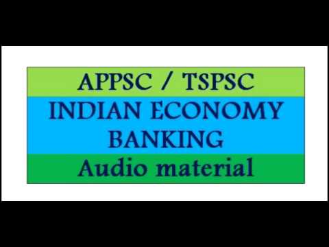 INDIAN ECONOMY BANKING audio study material