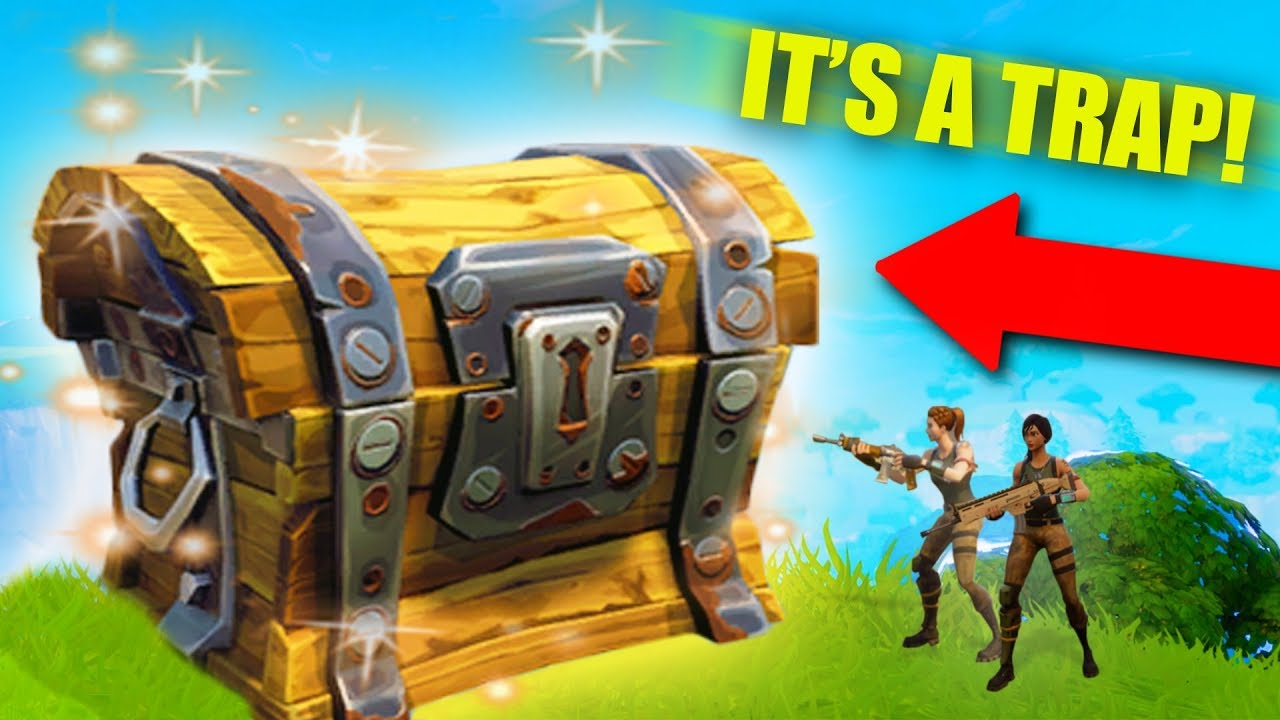 Giant Loot Chest Trap Tunnel Trolling Fortnite