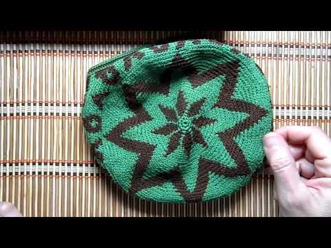 Крючком мужская шапка летняя крючком