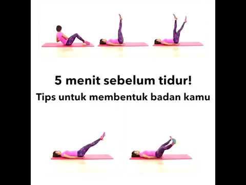 Gerakan 5 Menit Sebelum Tidur Untuk Membentuk Badan
